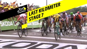 Last kilometer / Flamme rouge - Étape 7 / Stage 7 - Tour de France 2019