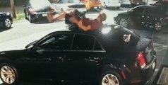 Un homme s'écrase sur une voiture après être tombé du haut d'un immeuble !