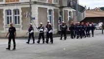L'entraînement pour le défilé du 14 juillet à Périgueux
