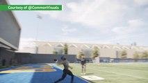 Beckham Jr throws incredible 100-yard pass