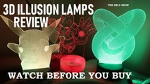 3d ILLUSION LAMP WORTH IT?  UNBOXING REVIEW WITH MARVEL  IRONMAN , POKEMON PIKACHU & OPTICAL DESIGN
