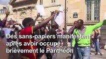 Les sans-papiers évacués du Panthéon continuent à manifester