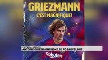 Antoine Griezmann signe au F.C. Barcelone