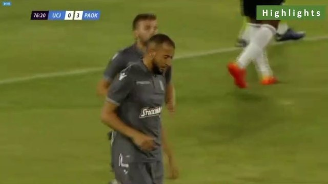 0-4 Omar El Kaddouri Goal - Universitatea Cluj 0-4 PAOK  - Full Replay 12.07.2019 [HD]
