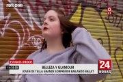 Belleza y glamour: joven de talla grande sorprende bailando profesionalmente ballet