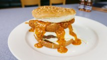 This Double-Patty Cheeseburger Is Topped With Mozzarella Sticks