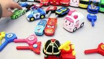 Toy Mini Car Launcher Jump disney Car Tayo Bus Poli Toys