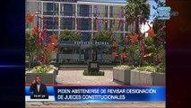 Piden abstenerse de revisar designacion de jueces constitucionales al CPCCS