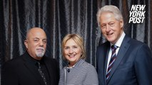 Billy Joel dedicates song to Bill and Hillary Clinton