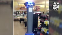 Is Marty the grocery store robot cool or creepy?