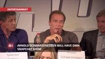 Watch Arnold Schwarzenegger On Snapchat