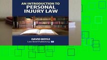 R.E.A.D An Introduction to Personal Injury Law D.O.W.N.L.O.A.D