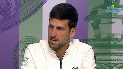 "Wimbledon 2019 - Novak Djokovic : ""Federer? It's the kind of game I dreamed about when I was a boy"""