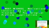 [MOST WISHED]  Motivational Interviewing in the Treatment of Psychological Problems (Applications