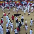 NFL - Redskins CB Josh Norman is out here JUMPING OVER bulls in Pamplona