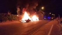 Deux voitures en feu à Montigny-le-Tilleul