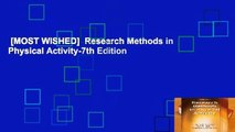 [MOST WISHED]  Research Methods in Physical Activity-7th Edition