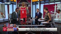Rockets trade Chris Paul for Russell Westbrook - Nick & Cris react _ NBA _ FIRST THINGS FIRST