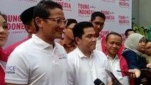 Setelah Jokowi-Prabowo, Giliran Sandiaga Bertemu  Erick Thohir