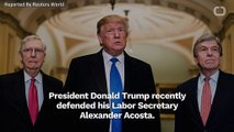 Donald Trump Defends Alexander Acosta Over Jeffrey Epstein Case