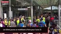 Les Gilets jaunes se mobilisent à Paris pour l'acte 35 (vidéo)