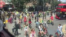 Extinction Rebellion climate protesters halt London traffic with mass ride-out