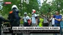 Gilets Jaunes : Les images des incidents à la mi-journée à Paris avec les forces de l'ordre qui sont intervenues à plusieurs reprises le 13 juillet