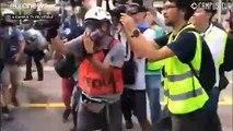 Ezúttal a kínai kereskedők ellen tüntettek Hongkongban