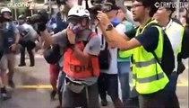 Nuevas protestas en Hong Kong, esta vez contra los comerciantes de la China continental