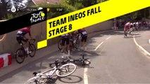 Chute du Team Ineos / Team Ineos Fall - Étape 8 / Stage 8 - Tour de France 2019