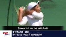 """Wimbledon : """"C'était la journée de Halep"""" concède S. Williams"""