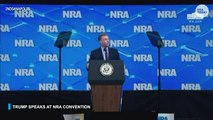 President Trump addresses National Rifle...
