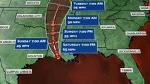 Barry makes landfall, weakens to tropical storm
