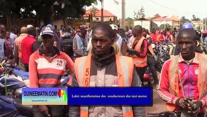 Labé : marche pacifique de protestation contre les assassinats ciblés des conducteurs de taxi-motos