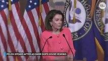 Nancy Pelosi speaks after Attorney General...