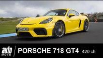 2019 Porsche Cayman GT4 420 ch  ESSAI POV Auto-Moto.com