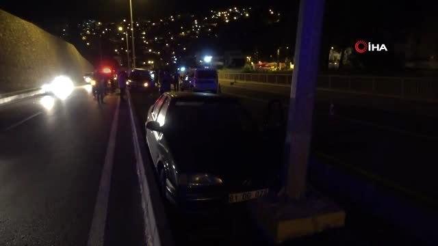 Alkollü sürücüyü kovalayan polis aracı kaza yaptı: 2si polis, 3 kişi yaralandı