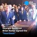 Georgia Gov. Brian Kemp signs 'heartbeat' abortion bill