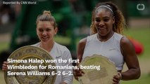 Simona Halep Beats Serena Williams At Winbledon