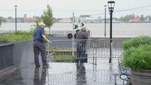Pierde fuerza la tormenta Barry pero persiste alerta de marejada ciclónica