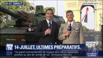 14-Juillet: les troupes et les chars Leclerc se mettent en place sur les Champs-Élysées