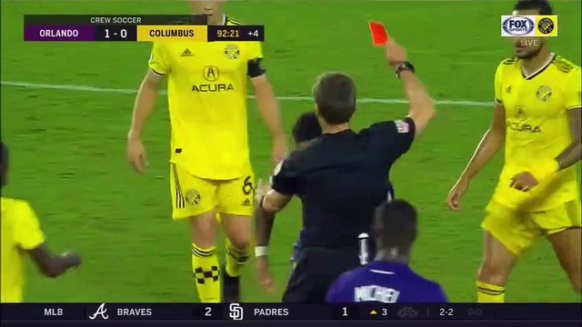 Dom Dwyer Red Card for elbow vs. Columbus Crew
