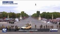 """14-Juillet: démonstration de Franky Zapata et son """"Flyboard Air"""" devant la tribune présidentielle"""