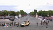 14 juillet: Découvrez les images impressionnantes du Flyboard, la future arme des forces spéciales, qui a volé au-dessus de la place de la Concorde ce matin