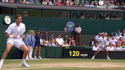 Tennis - Wimbledon - Nicolas Mahut Hit Three Times By The Ball During Doubles Final