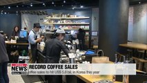 Coffee sales in 2019 projected to reach US$5.8 bil. or 300 cups per person