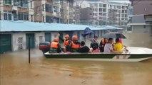 Más de 300 personas rescatadas en China tras quedar atrapadas por inundaciones