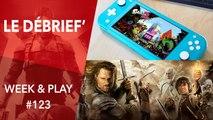 Débrief' : Nintendo Switch Lite, MMO Seigneur des Anneaux F2P et Splinter Cell VR