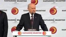 MHP lideri Bahçeli, Kastamonu'da vatandaşlara hitap etti