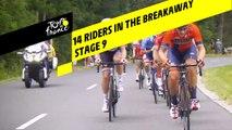 14 coureurs dans l'échappée/ 14 riders in the breakway - Étape 9 / Stage 9 - Tour de France 2019